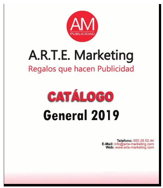 Portada catalogo general 2019 Arte Marketing